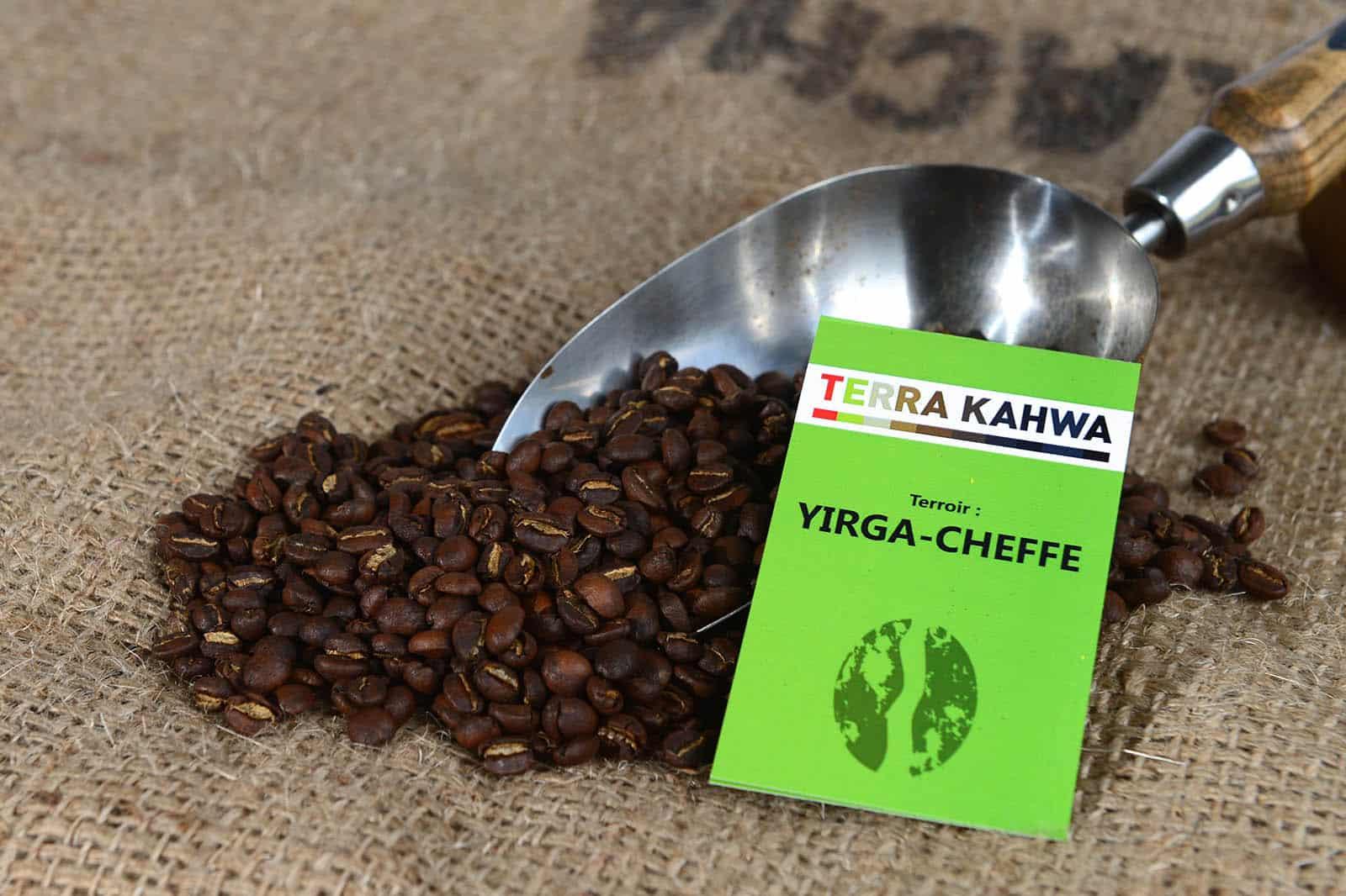 caf torr fi yirga cheffe caf d ethiopie origine certifi e terra kahwa 500g terra kahwa. Black Bedroom Furniture Sets. Home Design Ideas